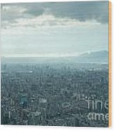 Taipei Under Heavy Clouds Wood Print