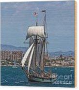 Tall Ship Alicante Wood Print