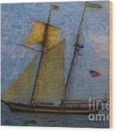 Tall Ship Sailing Wood Print