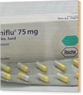 Tamiflu Influenza Drug Capsules Wood Print