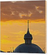 Tampa Bay Hotel Dome At Sundown Wood Print