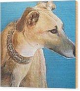 Tan Greyhound Wood Print