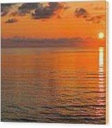 Tangerine Dawn Wood Print