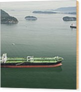 Tanker Ships At Anchor Offshore Of The Wood Print