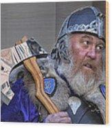 Tartan Day Parade Nyc 2013 Shetland Isle Celtic Warrior Wood Print