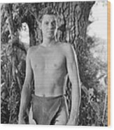 Tarzan The Ape Man, Johnny Weissmuller Wood Print