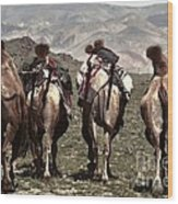 Working Camels Wood Print