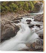 Tawhai Falls In Tongariro Np New Zealand Wood Print