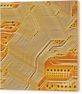 Technology Abstract Background Wood Print by Michal Boubin