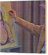 Ted Degrazia Drawing An Angel On Camera Kvoa Tv Screen Capture Christmas 1967 Wood Print