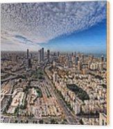 Tel Aviv Skyline Wood Print