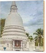 temple complex at the tropical island Sri Lanka Wood Print