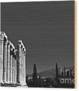 Temple Of Zeus Wood Print by Gabriela Insuratelu