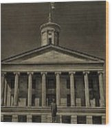 Tennessee Capitol Building Wood Print