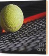 Tennis Equipment Wood Print by Michal Bednarek