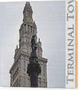 Terminal Tower Wood Print