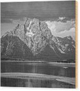 Teton National Park Wood Print by Oleksii Khmyz