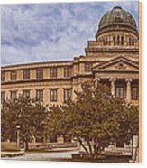 Texas A And M Academic Plaza - College Station Texas Wood Print