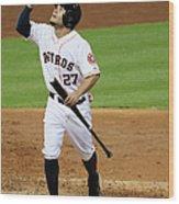 Texas Rangers V Houston Astros Wood Print