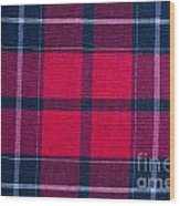 Texture Of Red-black Checkered Fabric  Wood Print