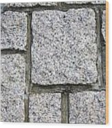 Texture Of Small Stone Structure Road  Wood Print