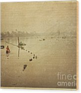 Thai River Life Wood Print