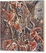 The 5th Division Storming By Escalade Wood Print