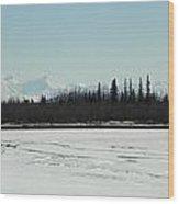 The Alaska Range Wood Print by Jennifer Kimberly