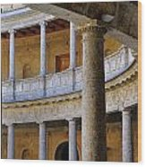 The Alhambra Palace Of Carlos V Wood Print by Guido Montanes Castillo