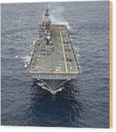 The Amphibious Assault Ship Uss Essex Wood Print