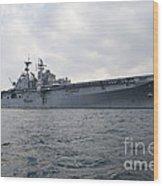 The Amphibious Assault Ship Uss Wood Print