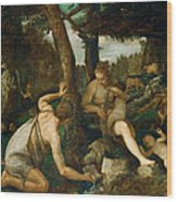 Adam And Eve After The Expulsion From Paradise Wood Print