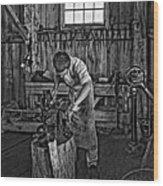 The Apprentice Monochrome Wood Print by Steve Harrington