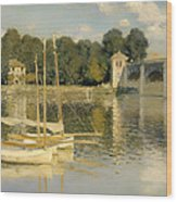 The Argenteuil Bridge Wood Print