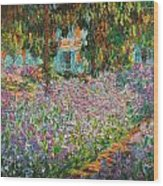 The Artists Garden At Giverny Wood Print