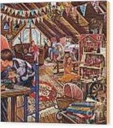 The Attic Wood Print