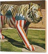 The Auburn Tiger Wood Print