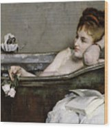 The Bath Wood Print