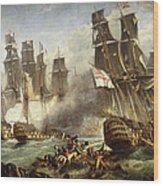 The Battle Of Trafalgar Wood Print