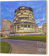 The Beehive Wellington New Zealand Wood Print