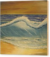 The Big Wave Wood Print