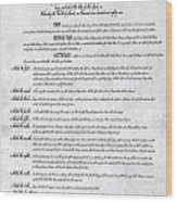 The Bill Of Rights H K Wood Print