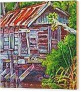 The Camp Bayou Wood Print