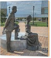 The Catherine And Milton Hershey Statue Wood Print