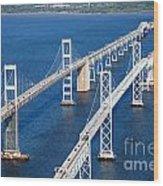 The Chesapeake Bay Bridge Wood Print