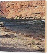 The Colorado Through Marble Canyon Wood Print