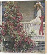 The Crimson Rambler Wood Print by Philip Leslie Hale
