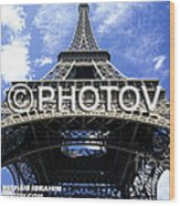 The Eiffel Tower - Paris - France Wood Print
