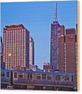 The El In Chicago  Wood Print