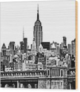 The Empire State Building Wood Print by John Farnan